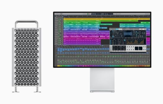An image of Logic X running on a Mac Pro