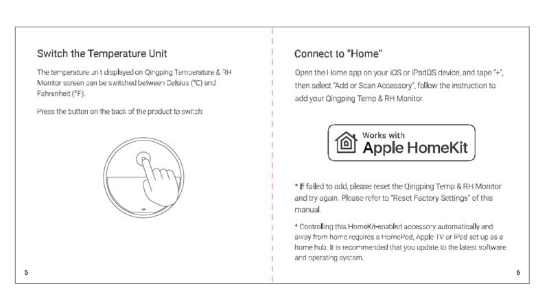 Xiaomi HomeKit teploměr - instrukce