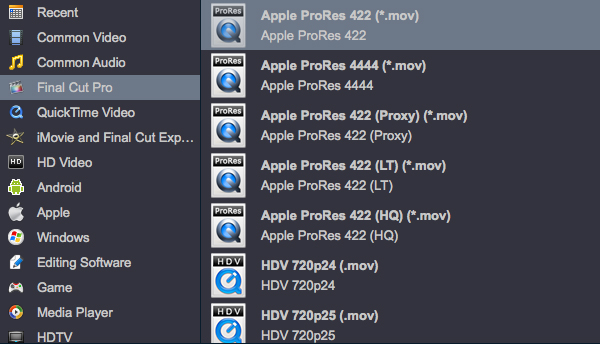 """Image result for Final Cut Pro"""" > """"Apple ProRes 422"""