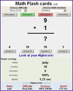 Addition Flash Cards Online Game Cardjdiorg