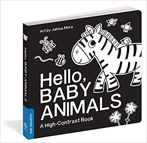 Baby Holiday Gift Guide with Black and White Books for babies 0-8 weeks old