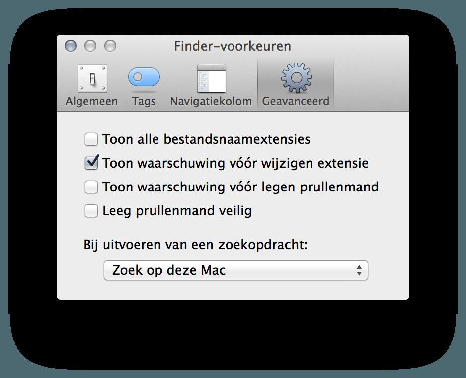 prullenbak mac wil niet legen