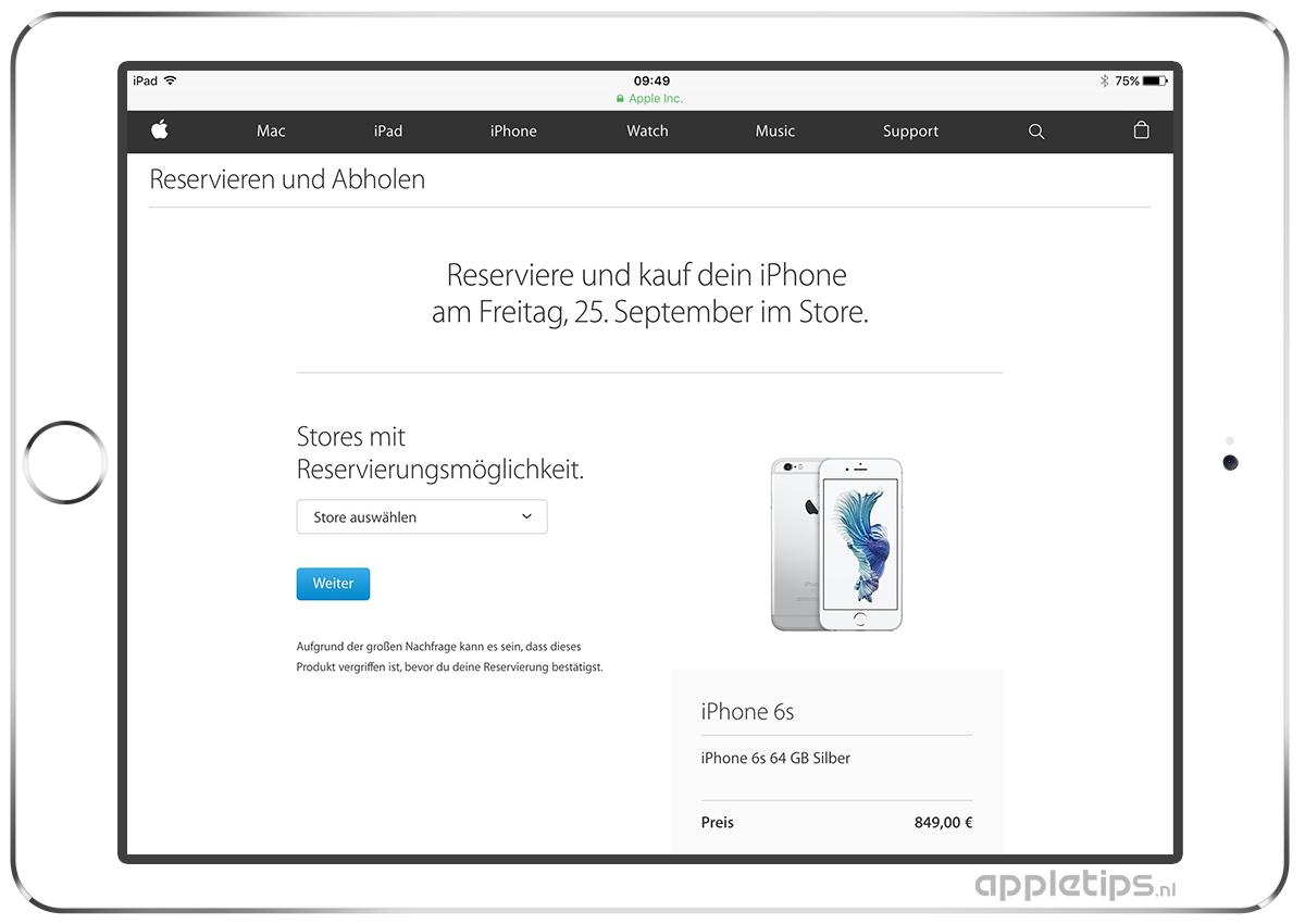 Iphone 6s Plus Sim Karte.Iphone 6s Plus Reserveren In Duitsland Appletips