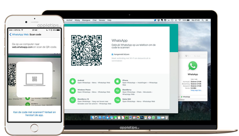 WhatsApp desktop-app voor Mac en Windows - appletips