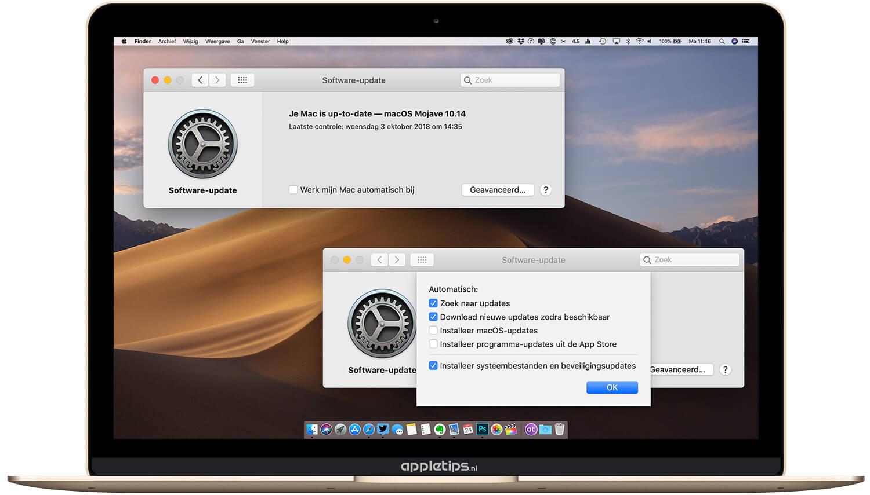 Controleren op macOS software-updates vanaf macOS Mojave