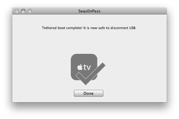 Seas0nPass 08 How to jailbreak Apple TV 2 on iOS 4.2.1 with Seas0nPass