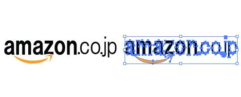 amazonのロゴ イラレ/ベクターデータ