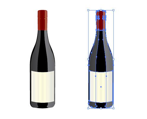 ワインボトル イラレ/ベクトルデータ