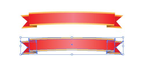 リボン 装飾用  ワンポイント イラレ・ベクトルデータ