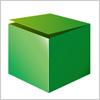 緑色の開きかけの箱