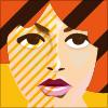 ガーリー風の女性イラスト