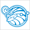 波とサーフボードをイメージしたロゴ風のアイコン