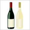 赤ワインと白ワインのボトルセット