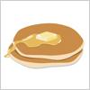 バターと蜂蜜をかけたホットケーキ