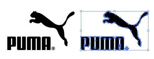 スピード感煽るるエキゾチックなPUMAのロゴ