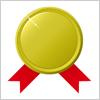 ワンポイントアイコン 金メダル