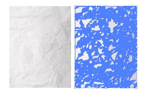 しわしわの紙のイラストレーターデータ