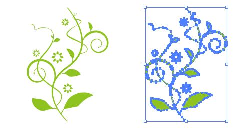 軽やかな植物のイラスト素材 無料配布イラレイラストレーター