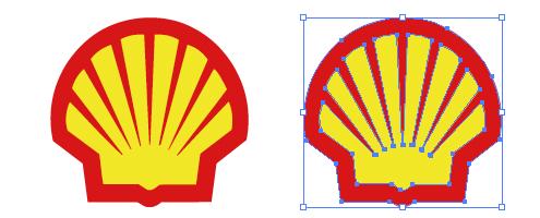 ガソリンスタンド、昭和シェルのepsロゴ