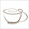 一筆書きで描いたコーヒーカップのイラスト素材