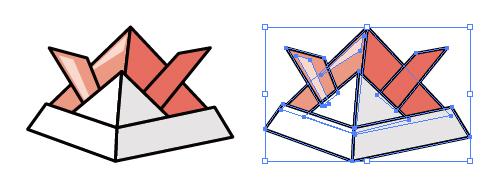 子供の日に折り紙で作れるかぶとのepsイラスト無料素材