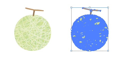 きめ細かいフルーツ マスクメロンのイラスト素材
