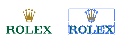 腕時計メーカー、ロレックス(Rolex)のロゴ