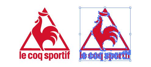 忙しいwebデザイナーさんのためのWeb用素材データ保管・無料ダウンロードサイト【無料配布】イラレ/イラストレーター/ベクトル パスデータ保管庫【ai・eps ベクター素材】デザイナーさんの時間短縮のためのイラレweb素材フランスのスポーツ用品メーカー、ルコックスポルティフ (Le Coq Sportif)のロゴ