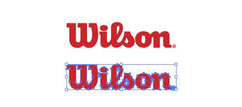 アメリカのスポーツ用品メーカー、ウイルソン(Wilson)のロゴマーク
