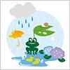 6月の梅雨時期をイメージしたイラスト eps,ai