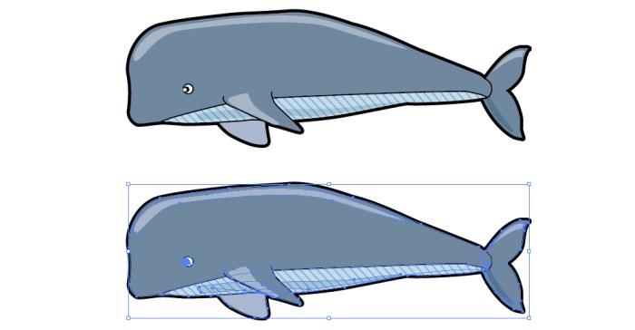 クジラ 鯨のイラスト