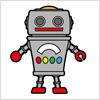 ロボットのおもちゃのイラスト