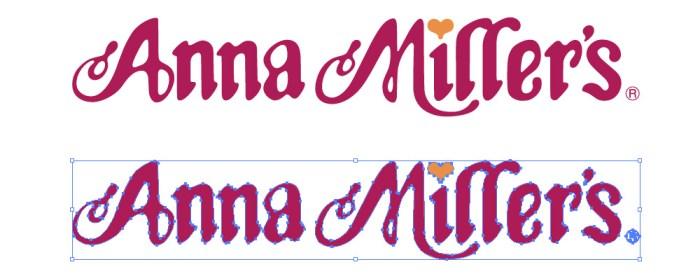 アンナミラーズ(Anna Miller's)のロゴマーク