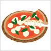 マルゲリータ風のピザのイラスト