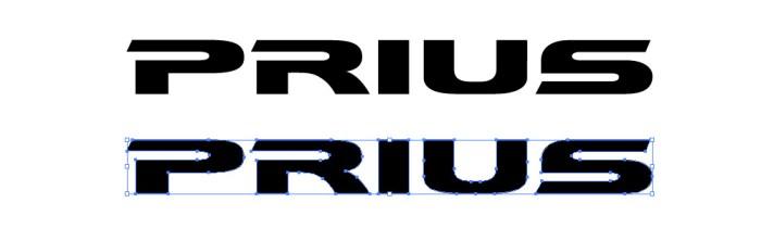 ハイブリット車ブランド、プリウス(PRIUS)のロゴマーク