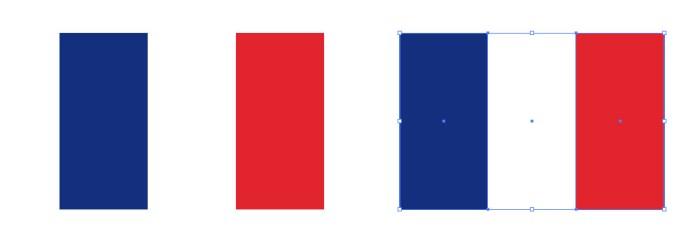 フランスの国旗 イラレeps素材イラストレーターベクトル パス
