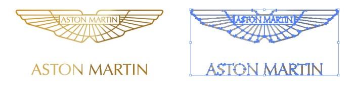 イギリスの自動車メーカー、アストンマーチン(Aston Martin)のロゴマーク