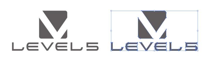 ゲームソフト開発を行う企業、レベルファイブ(LEVEL-5)のロゴマーク