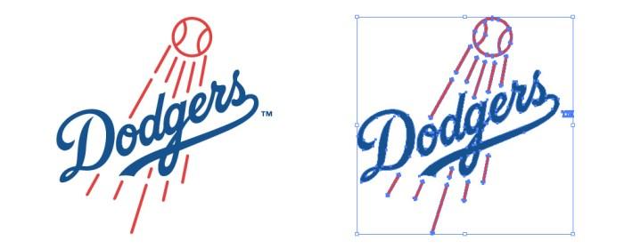 忙しいwebデザイナーさんのためのWeb用素材データ保管・無料ダウンロードサイト【無料配布】イラレ/イラストレーター/ベクトル パスデータ保管庫【ai・eps ベクター素材】デザイナーさんの時間短縮のためのイラレweb素材ロサンゼルス・ドジャース(Los Angeles Dodgers)のロゴマーク