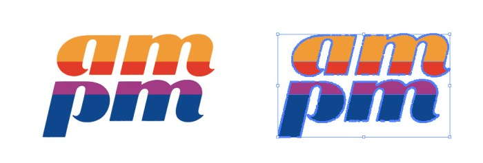 ampm(エーエムピーエム)のロゴマーク