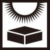 直射日光の禁止を表すロゴアイコンマーク