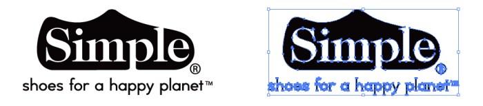 シューズブランド、simpleのロゴマーク