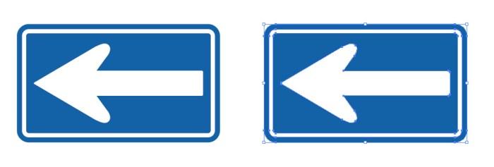 一方通行を表す道路標識