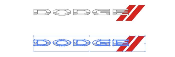 アメリカの自動車ブランド、ダッジ(Dodge)のロゴマーク