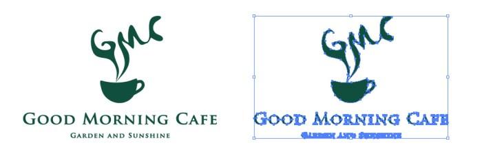 グッドモーニングカフェ(GMC)のロゴマーク