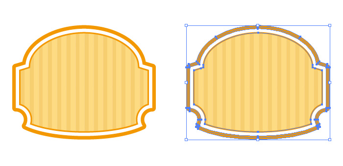 オレンジ色のシンプルなラベル