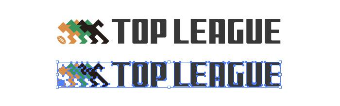 日本ラグビーのTOP LEAGUE(トップリーグ)のロゴマーク