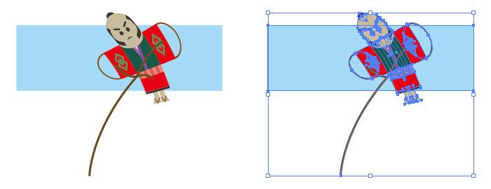 凧揚げのイラスト