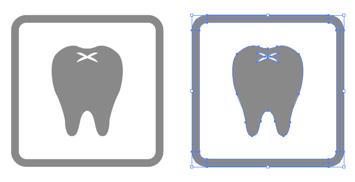 歯医者の簡易アイコンイラスト