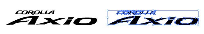 カローラ アクシオ(COROLLA Axio)のロゴマーク